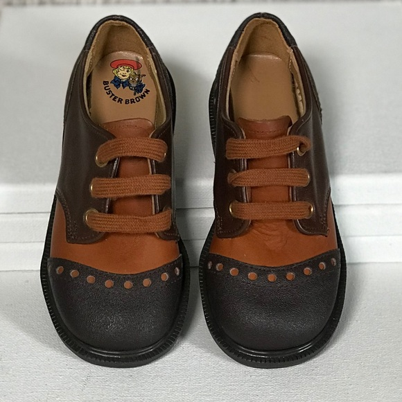 a3d5417d1bf73 Vintage 70s Boys Buster Brown Lace Up Oxfords NWT
